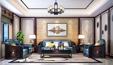 中式客厅,天圆地方的智慧设计 现代君子的处世哲学